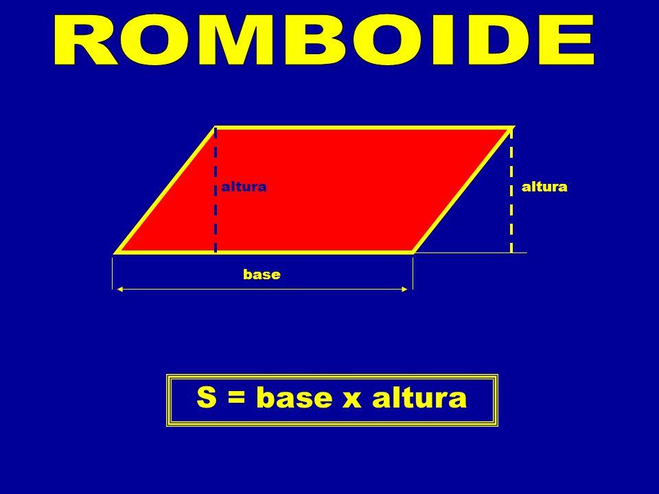 altura base S = base x altura