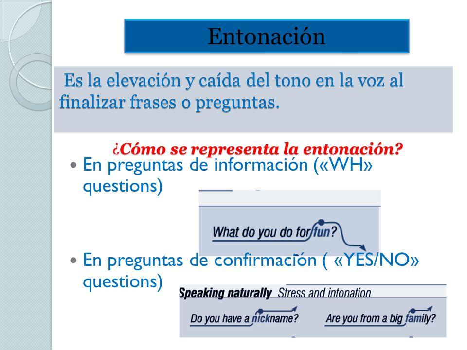 ¿ Cómo se representa la entonación. ¿Cómo se representa la entonación.