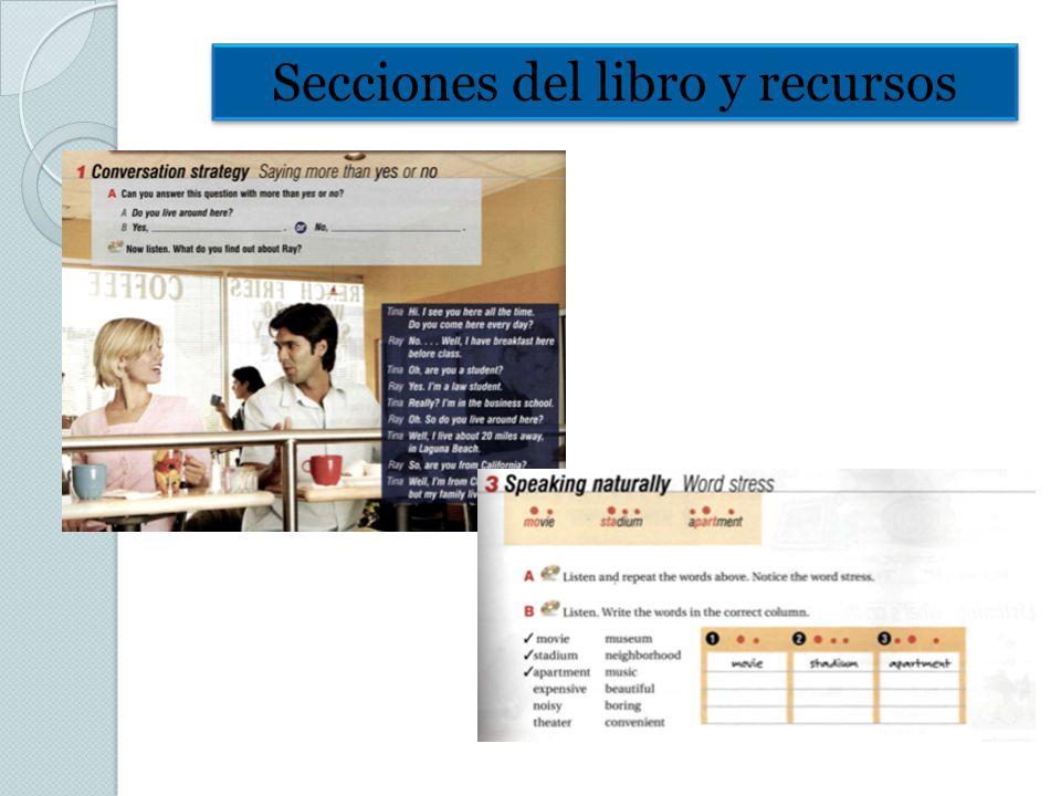Secciones del libro y recursos