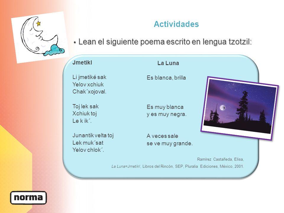 Actividades 1.Lean en silencio el siguiente poema, al terminar léanlo en voz alta y traten de encontrar el ritmo del mismo.