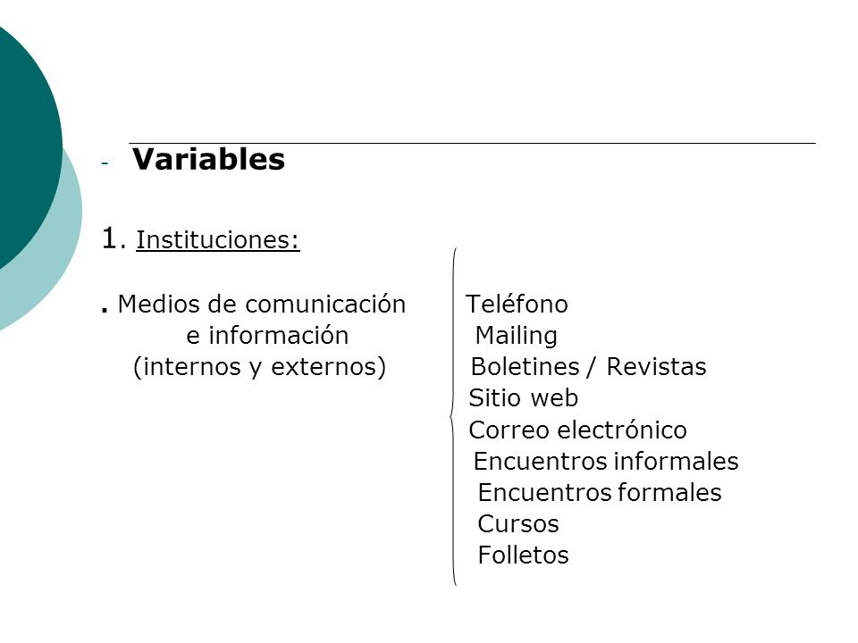 - Variables 1.Instituciones:.