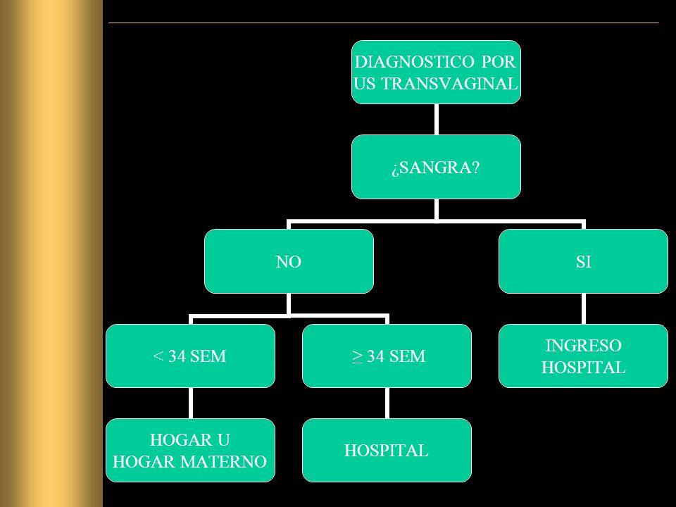 DIAGNOSTICO POR US TRANSVAGINAL ¿SANGRA.
