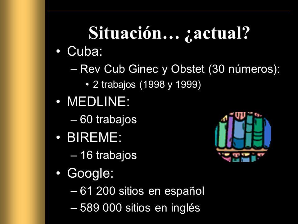 Prevalencia Cuba: –Hernández Cabrera, 1998: 0.3 % –Hernández Cabrera, 1999: 0.3 % –HDMI 10 de Octubre, 2006: ¿.
