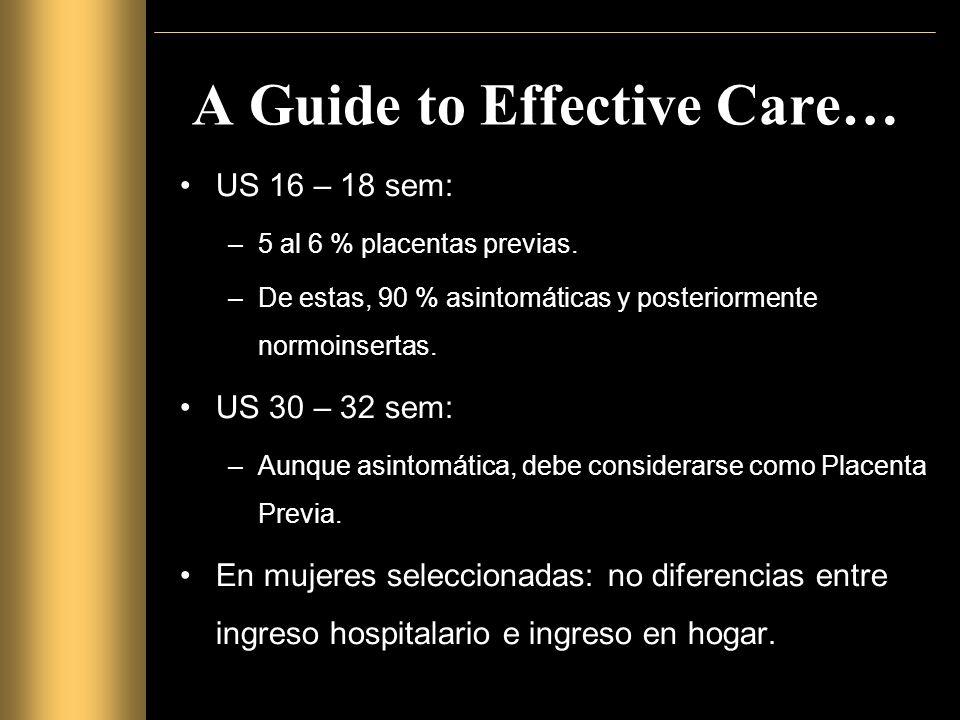 A Guide to Effective Care… Vía del nacimiento: CESAREA.