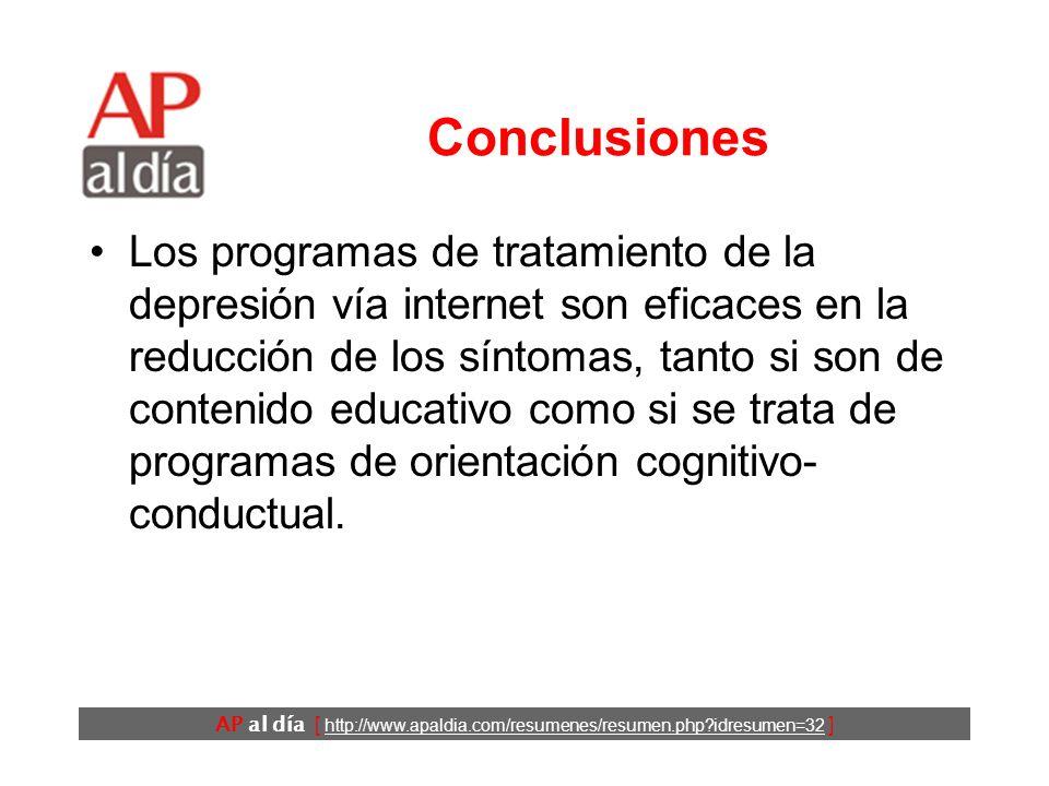 AP al día [ http://www.apaldia.com/resumenes/resumen.php?idresumen=32 ] Resultados (2) Análisis por intención de tratarPacientes que completaron el pr