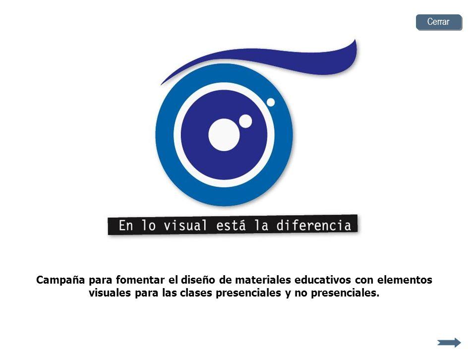 Campaña para fomentar el diseño de materiales educativos con elementos visuales para las clases presenciales y no presenciales.