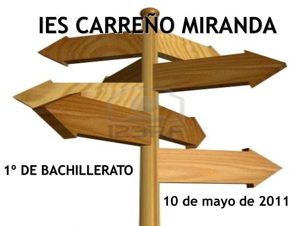 IES CARREÑO MIRANDA 10 de mayo de 2011 1º DE BACHILLERATO