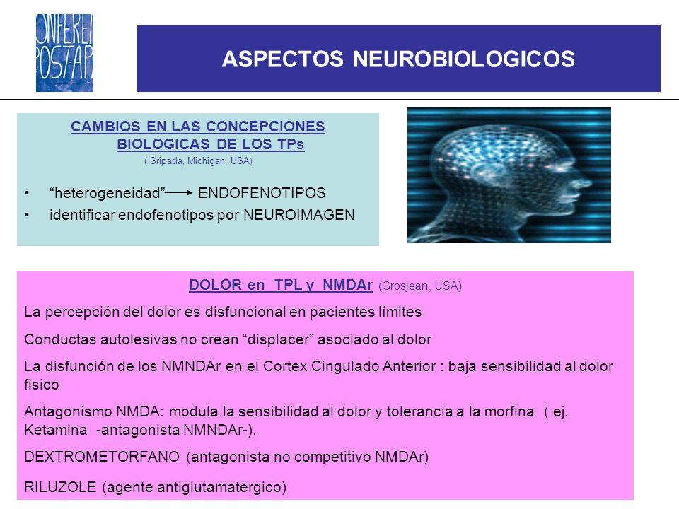 4as conferencias POST-APA ASPECTOS NEUROBIOLOGICOS CAMBIOS EN LAS CONCEPCIONES BIOLOGICAS DE LOS TPs ( Sripada, Michigan, USA) heterogeneidad ENDOFENO