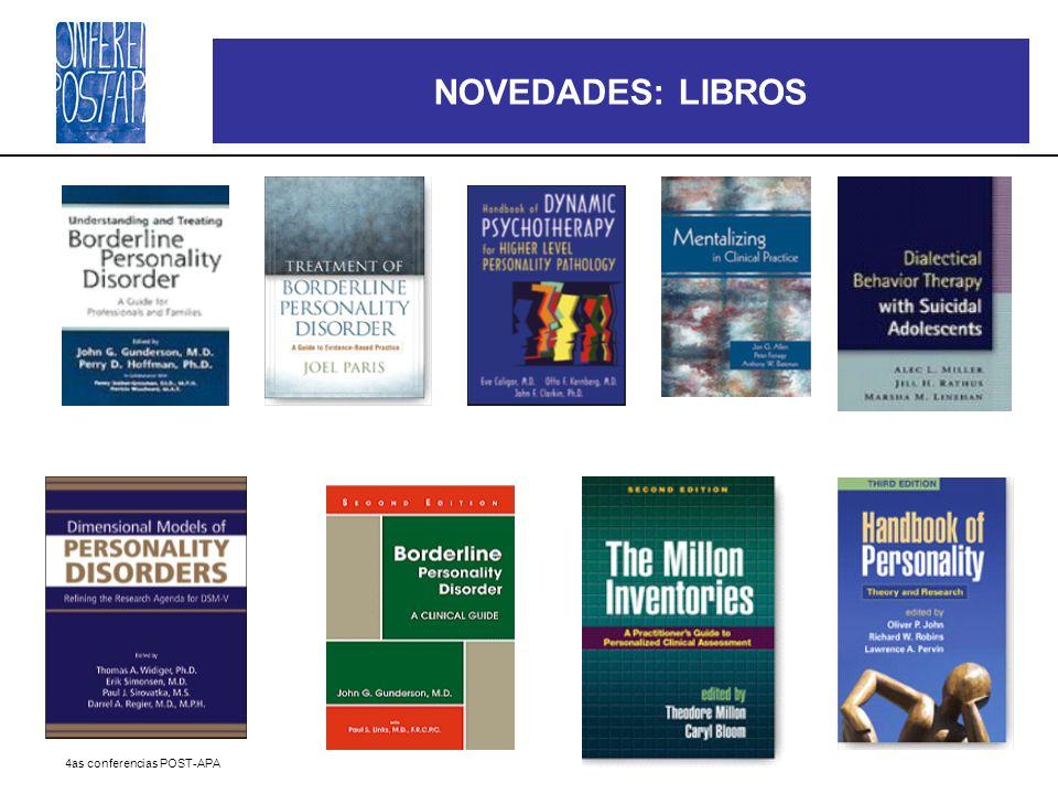 4as conferencias POST-APA NOVEDADES: LIBROS