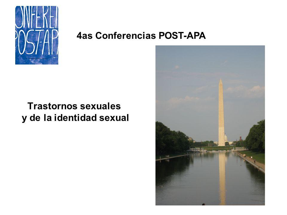 4as Conferencias POST-APA Trastornos sexuales y de la identidad sexual
