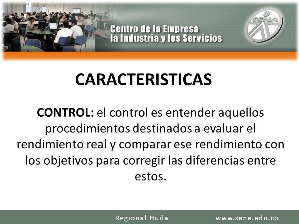 CONTROL: el control es entender aquellos procedimientos destinados a evaluar el rendimiento real y comparar ese rendimiento con los objetivos para cor