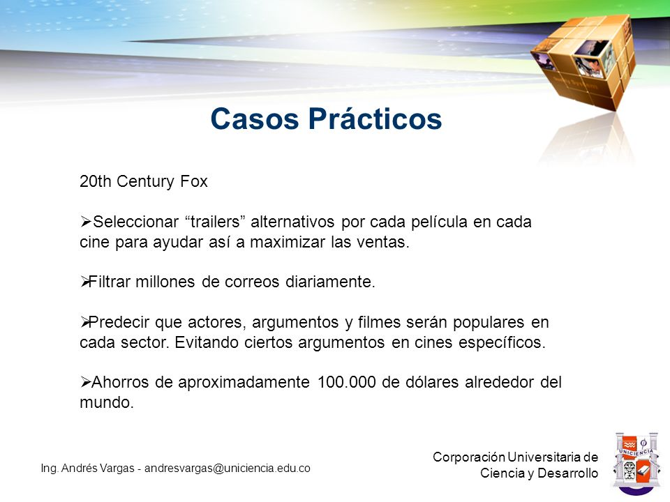 Casos Prácticos Corporación Universitaria de Ciencia y Desarrollo Ing.