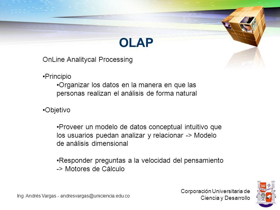 OLAP Corporación Universitaria de Ciencia y Desarrollo Ing.