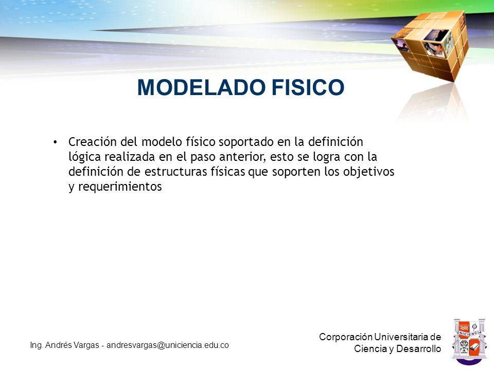 MODELADO FISICO Corporación Universitaria de Ciencia y Desarrollo Ing.