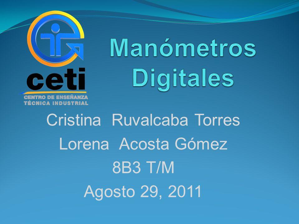 Cristina Ruvalcaba Torres Lorena Acosta Gómez 8B3 T/M Agosto 29, 2011