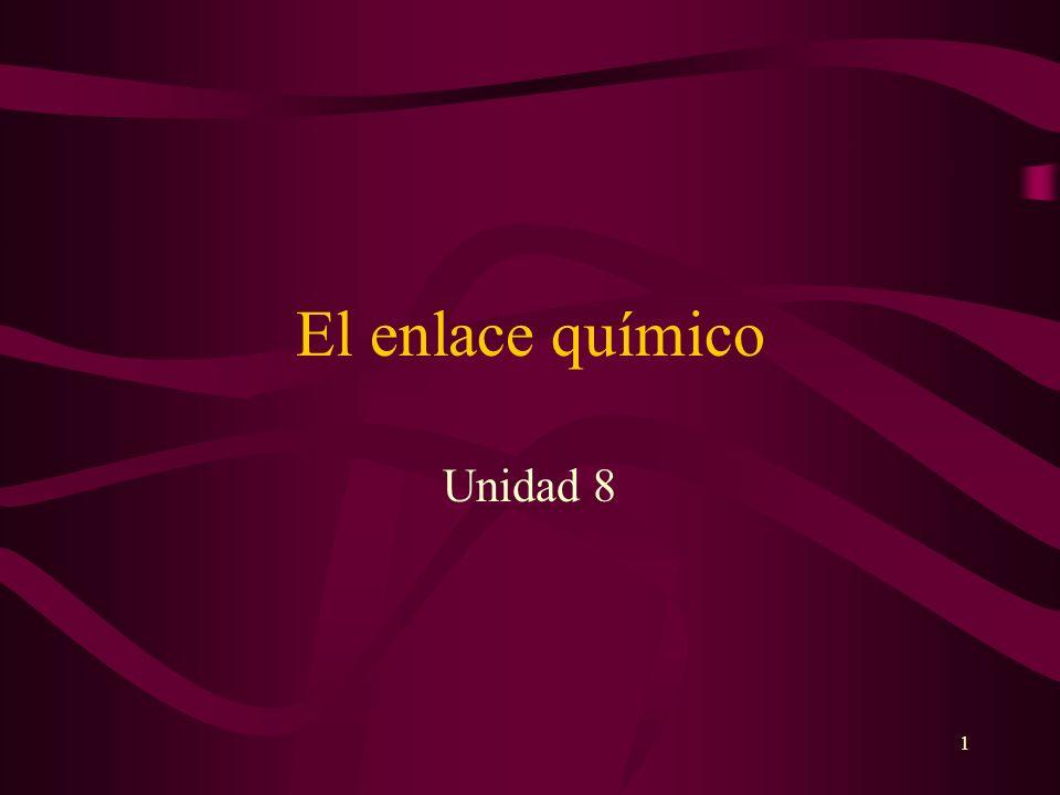 1 El enlace químico Unidad 8