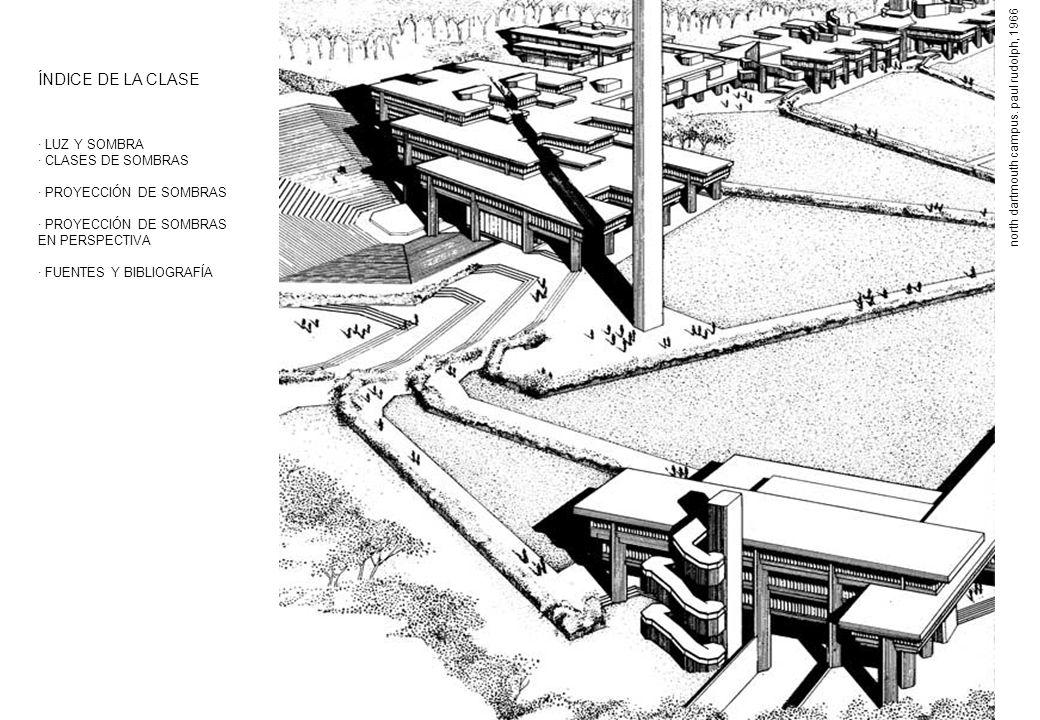 LUZ Y SOMBRA En el ámbito de la expresión gráfica arquitectónica tratamos de representar espacios que vienen determinados por volúmenes.