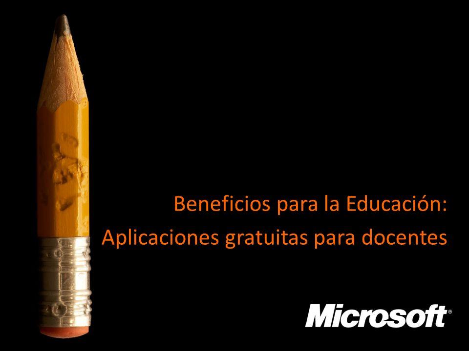 Secretaría de Educación Pública Federal Beneficios para la Educación: Aplicaciones gratuitas para docentes