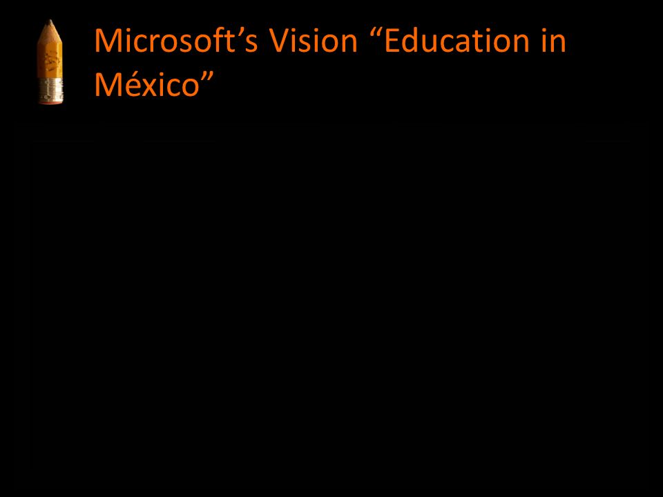 Educación Microsofts Vision Education in México