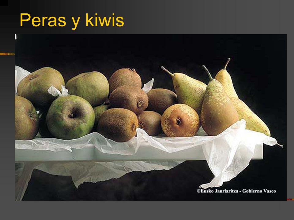 Peras y kiwis