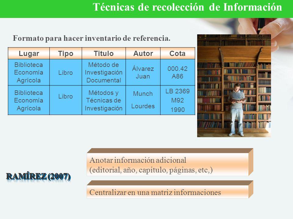 Formato para hacer inventario de referencia.