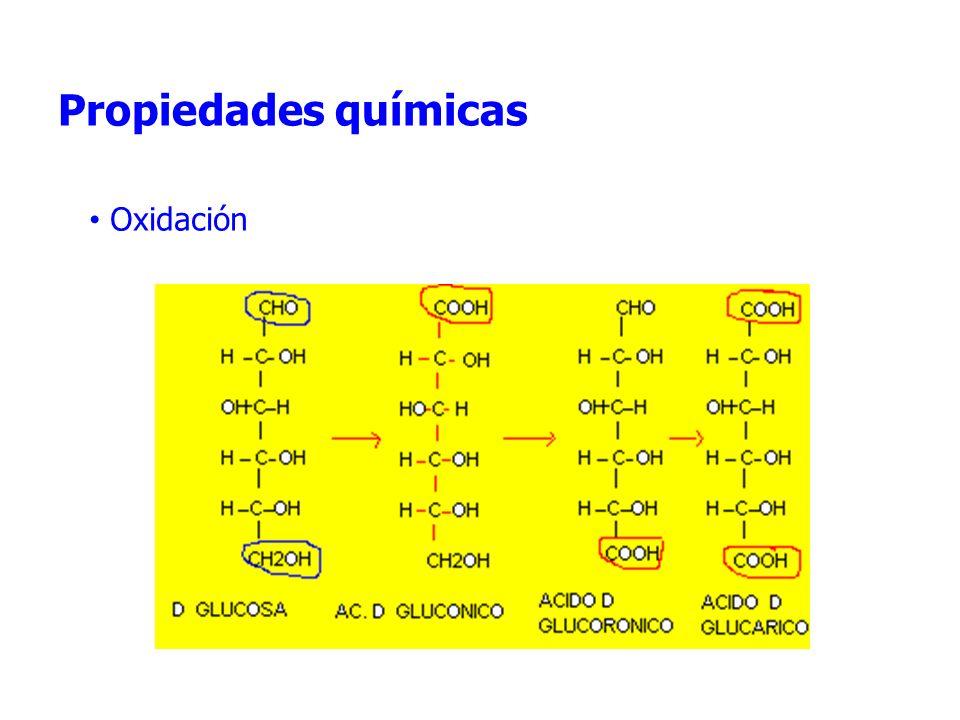 Propiedades químicas Oxidación