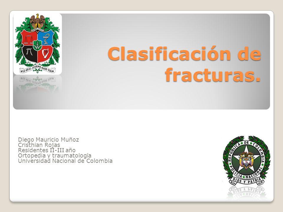 Clasificación de fracturas.