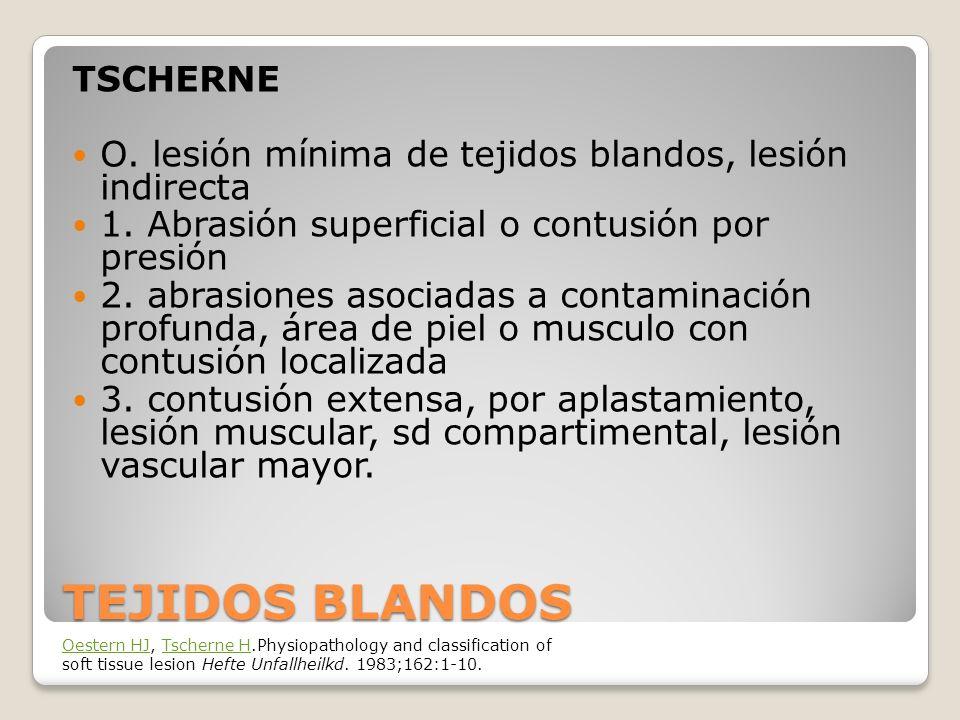 TEJIDOS BLANDOS TSCHERNE O.lesión mínima de tejidos blandos, lesión indirecta 1.