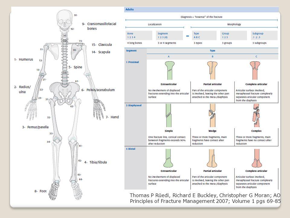 Thomas P Rüedi, Richard E Buckley, Christopher G Moran; AO Principles of Fracture Management 2007; Volume 1 pgs 69-85