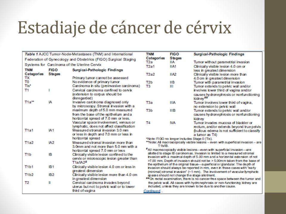 Estadiaje de cáncer de cérvix