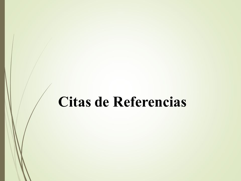 Citas de Referencias