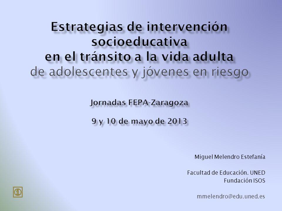 Miguel Melendro Estefanía Facultad de Educación. UNED Fundación ISOS mmelendro@edu.uned.es