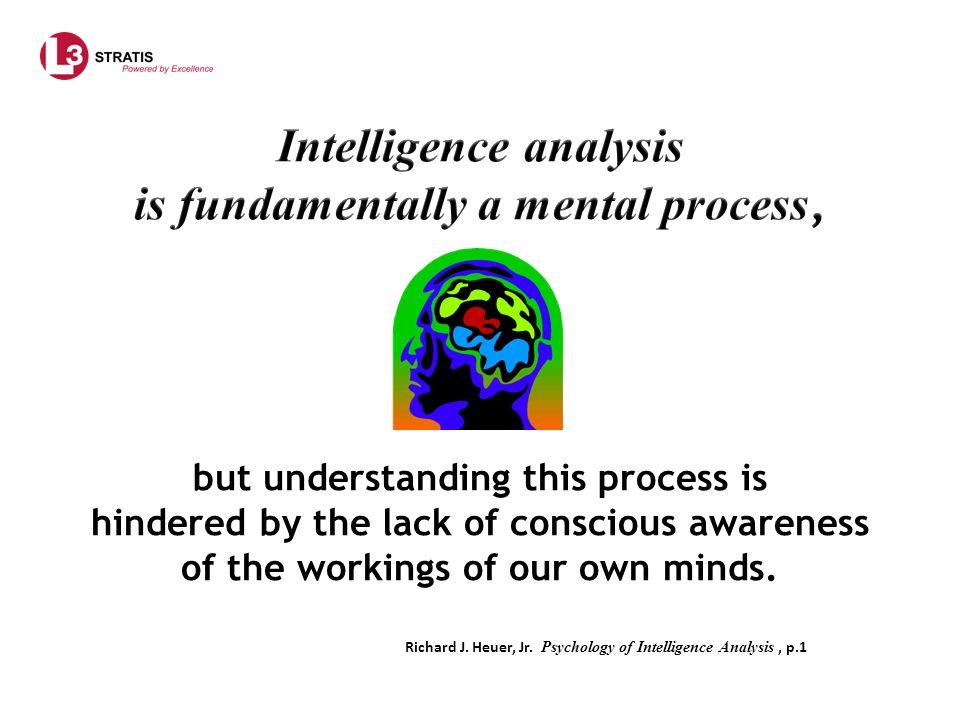 We tend to perceive what we expect to perceive.Cited by Richard J.