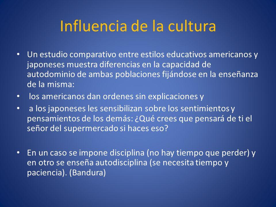 Influencia de la cultura Un estudio comparativo entre estilos educativos americanos y japoneses muestra diferencias en la capacidad de autodominio de
