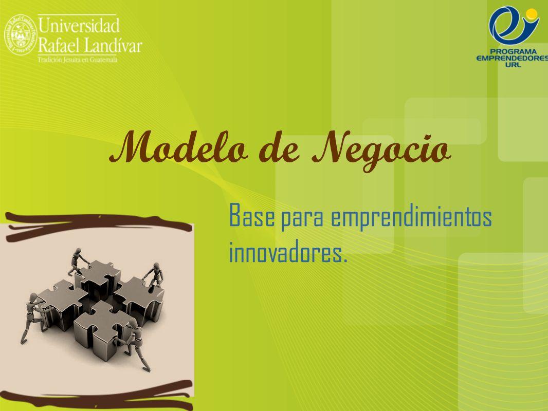 Modelo de Negocio Base para emprendimientos innovadores.