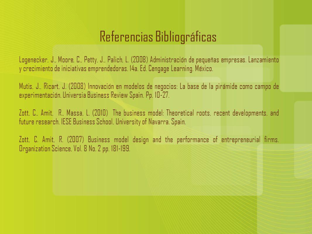 Referencias Bibliográficas Logenecker, J., Moore, C., Petty, J., Palich, L.