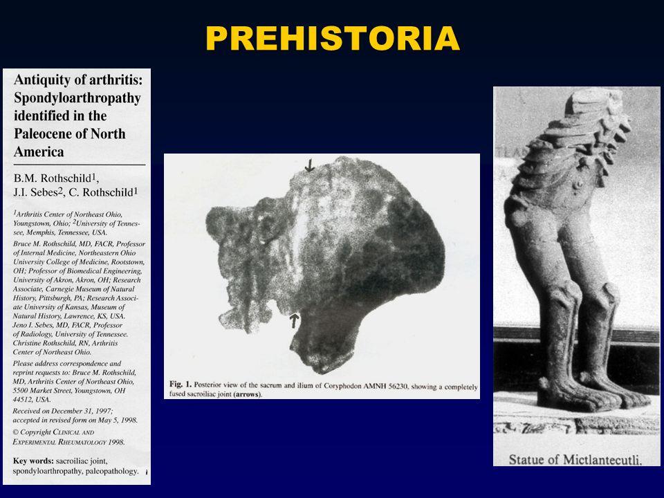 Historia de las espondiloartritis V.M.