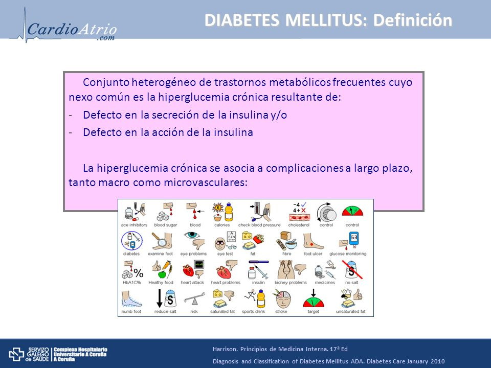 DM: Acción de la insulina Harrison. Principios de Medicina Interna. 17ª Ed
