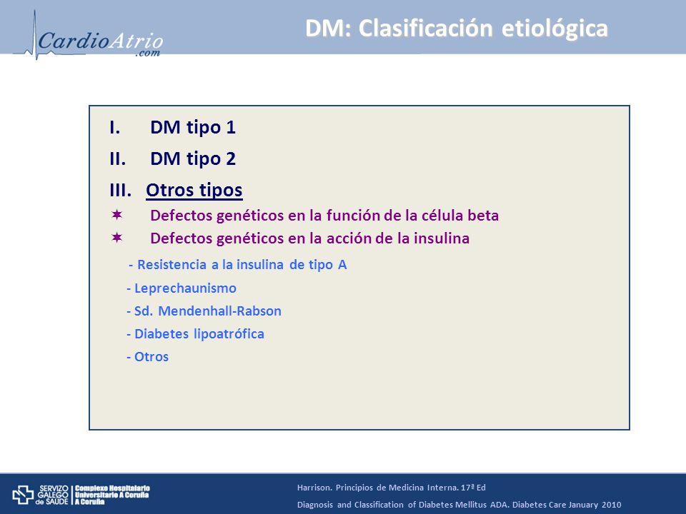 DM tipo 1: Etiopatogenia * DM tipo 1 idiopática: sin marcadores inmunes.