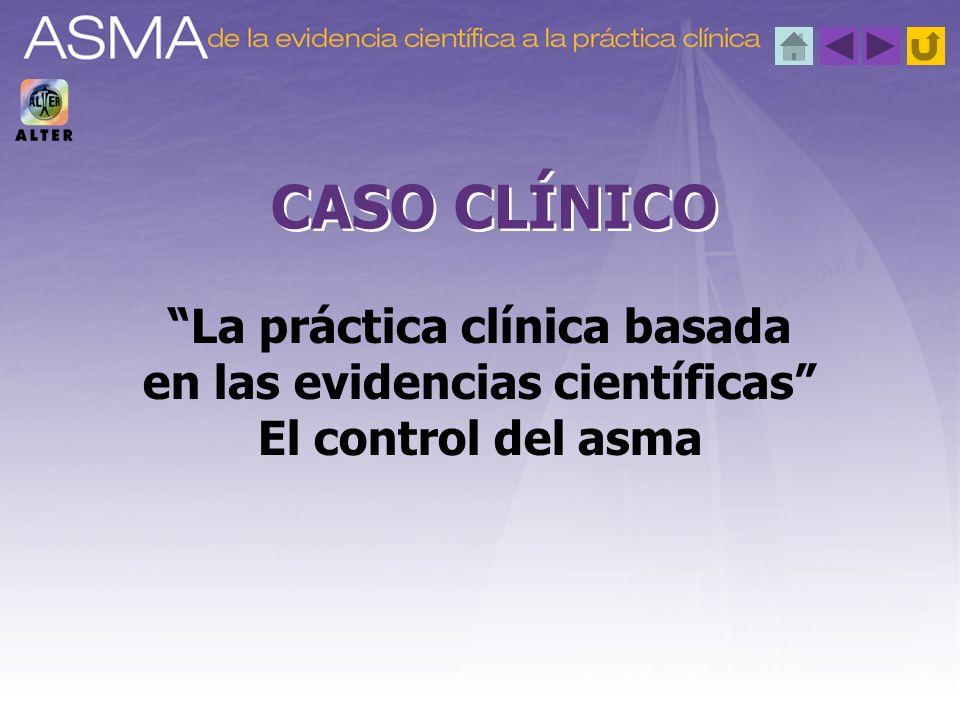 El objetivo del tratamiento del asma es conseguir un buen control o un control óptimo: www.gemasma.com, www.ginasthma.org, www.nhlbi.nih.gov/guidelines/asthma/asthgdln.htmwww.gemasma.com www.ginasthma.org www.nhlbi.nih.gov/guidelines/asthma/asthgdln.htm Los objetivos de control deben ir dirigidos a (www.ginasthma.org):www.ginasthma.org Síntomas Función pulmonar Marcadores biológicos de inflamación Aplicación de la evidencia 1.ª cuestión planteada