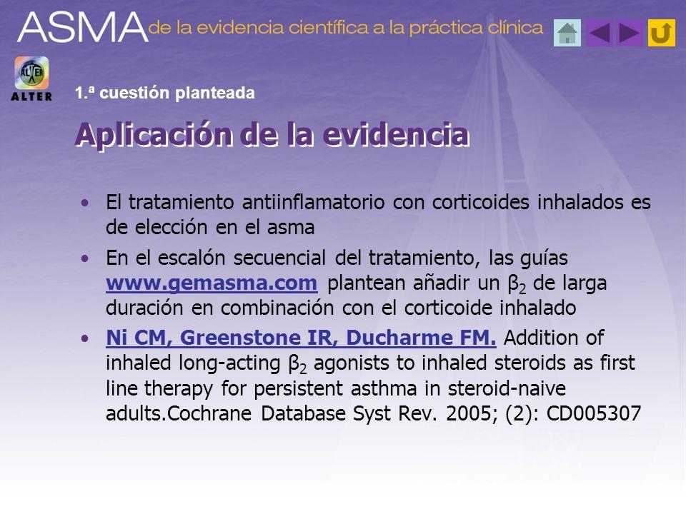 El tratamiento antiinflamatorio con corticoides inhalados es de elección en el asma En el escalón secuencial del tratamiento, las guías www.gemasma.co