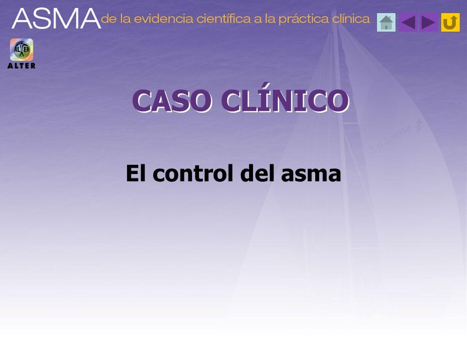Aplicación de la evidencia 2.ª cuestión planteada Clasificación del asma; gravedad y características clínicas antes del tratamiento IntermitenteModerada persistente Síntomas menos de una vez por semana.