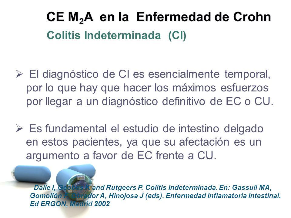 El diagnóstico de CI es esencialmente temporal, por lo que hay que hacer los máximos esfuerzos por llegar a un diagnóstico definitivo de EC o CU. Es f