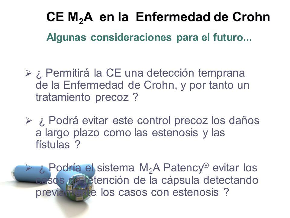 ¿ Permitirá la CE una detección temprana de la Enfermedad de Crohn, y por tanto un tratamiento precoz ? ¿ Podrá evitar este control precoz los daños a