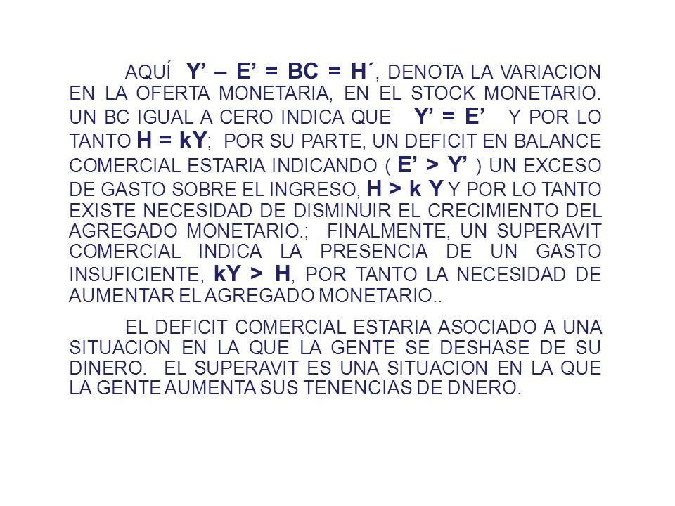 CON ELLO ARRIBAMOS A UNA EXPRESION PARA EL GASTO ( E ) : ( 6 ) E = P T D T + P N D N ANTES CUANDO E = Y NO EXISTIA DEFICIT EN CUENTA CORRIENTE; LA IGU