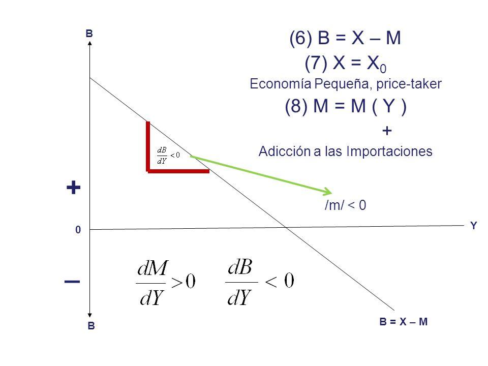 (1) Y = C + I (2) Y = C + I + G – T (3) Y = C + I + (G – T) + X – M (4) (Y – C) = I + (G – T) + (X – M) (5) (S – I) = (G – T) + (X – M) Residentes / No Residentes Fuentes de Inestabilidad / Multiplicadores (I, G, X)