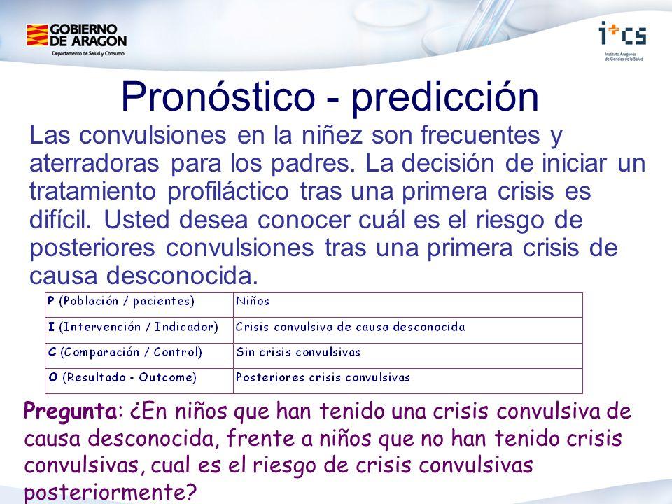 Pronóstico - predicción Las convulsiones en la niñez son frecuentes y aterradoras para los padres. La decisión de iniciar un tratamiento profiláctico