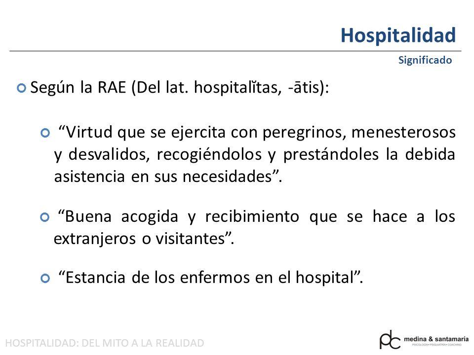 HOSPITALIDAD: DEL MITO A LA REALIDAD Hospitalidad Significado HOY EN DÍA =TURISMO
