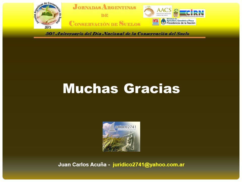 Muchas Gracias Juan Carlos Acuña - juridico2741@yahoo.com.ar
