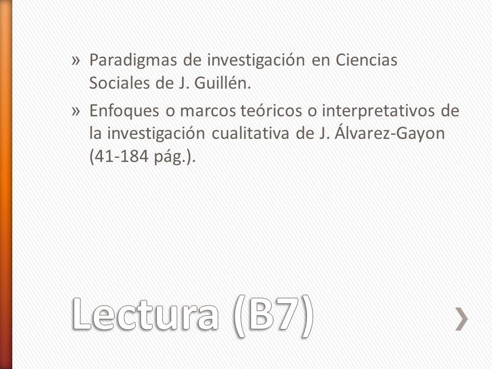 » Paradigmas de investigación en Ciencias Sociales de J.